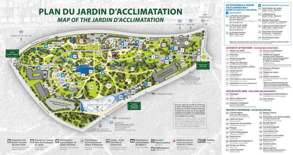 Plan Jardin d'Acclimatation