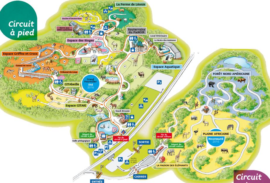 Plan Safari de Peaugres