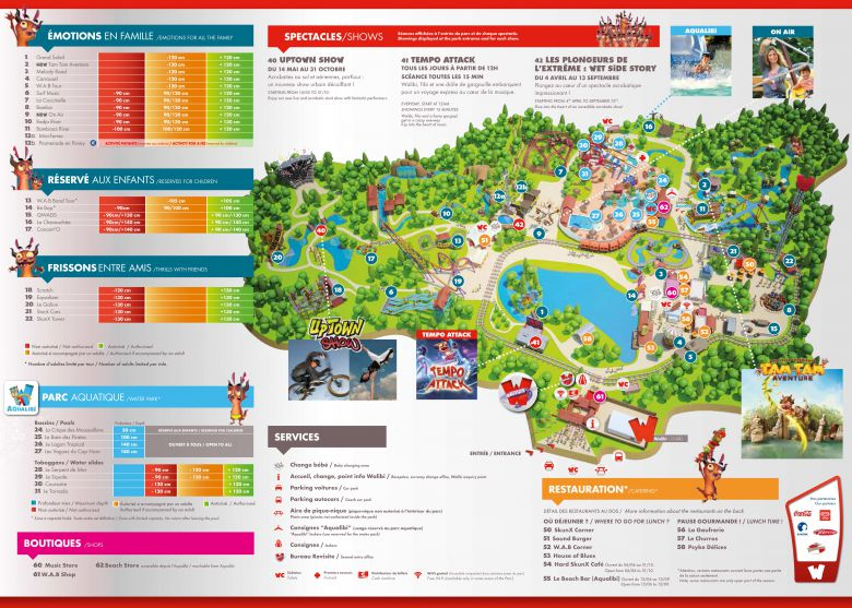 Plan Walibi Rhone Alpes