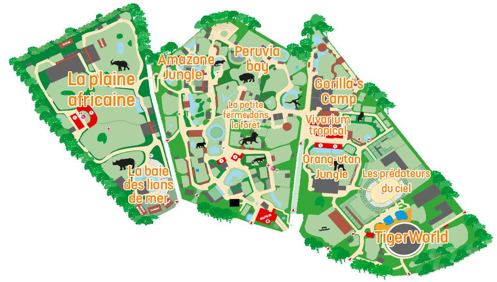 Plan Zoo Amneville