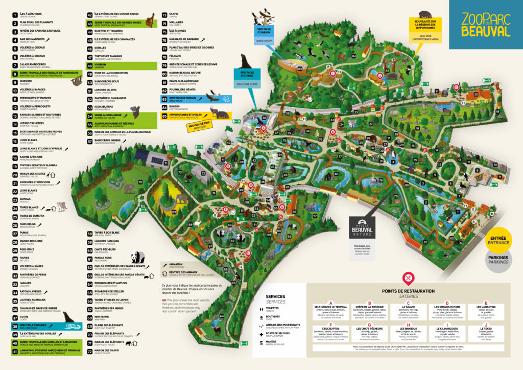 Plan Zoo de Beauval