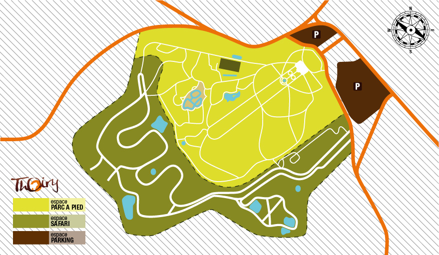 Plan Zoo de Thoiry