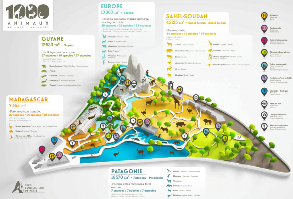 Plan Zoo de VIncennes