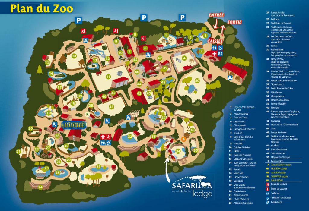 Plan Zoo de la Flèche