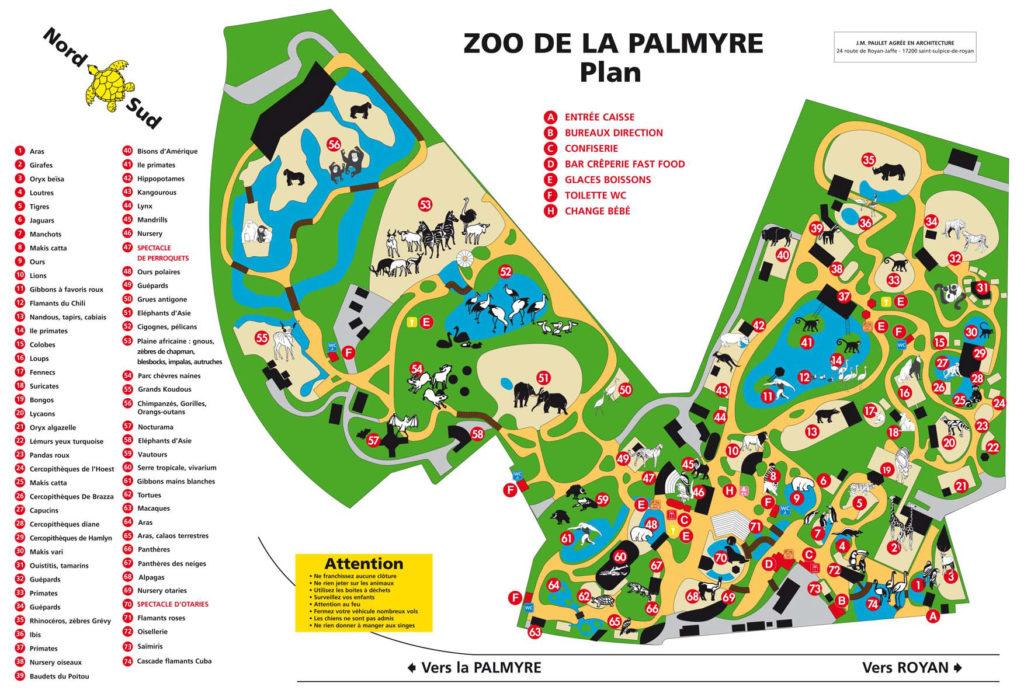 Plan Zoo de la Palmyre