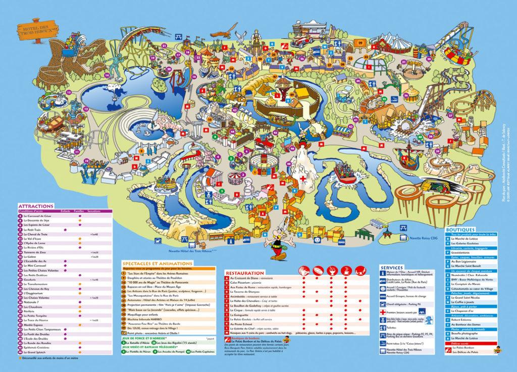 Plan parc Astérix