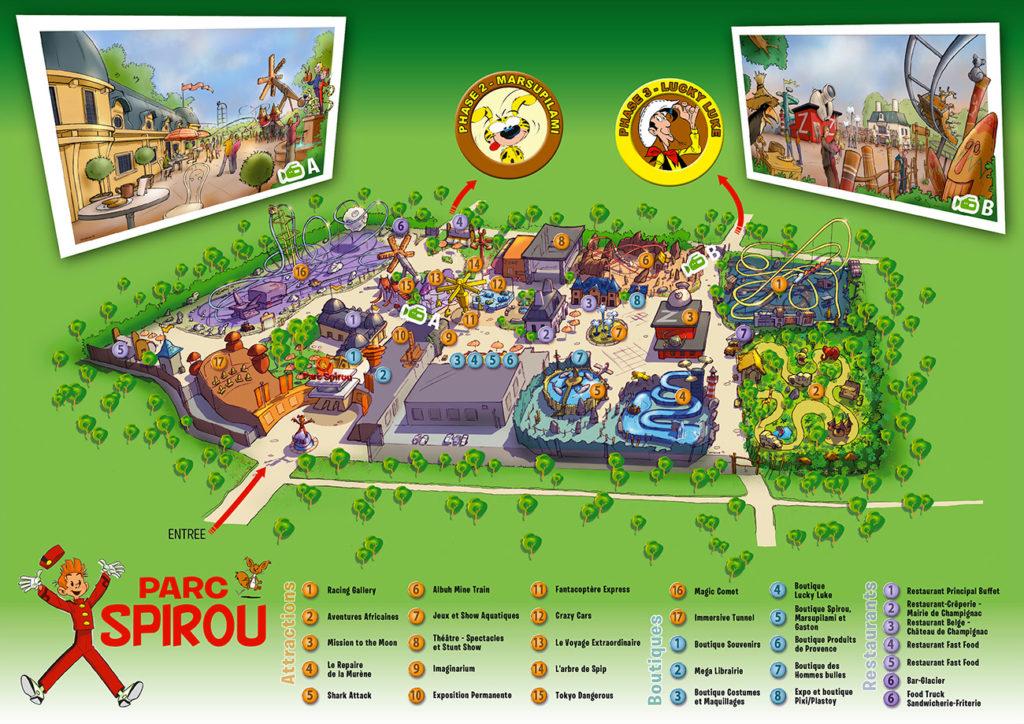 Plan parc Spirou