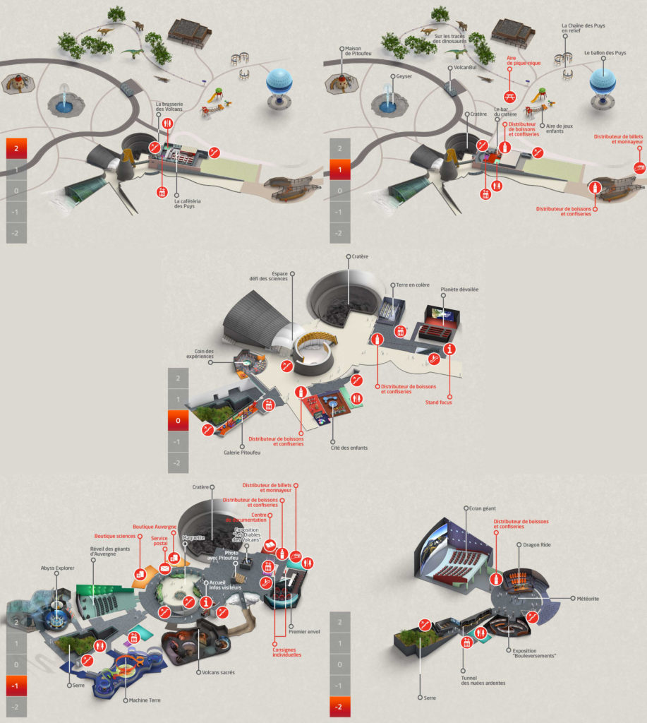 Plan parc Vulcania