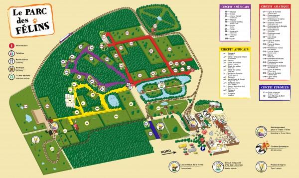 Plan parc des félins