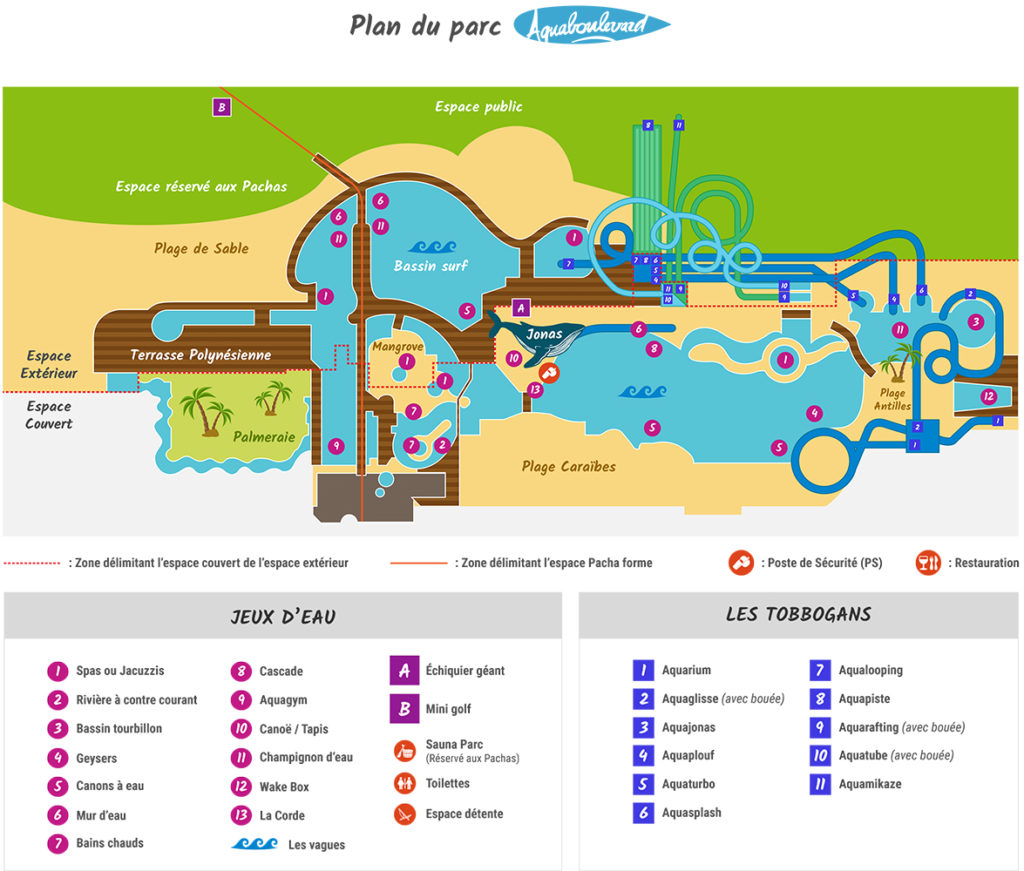 Plan Aquaboulevard Paris