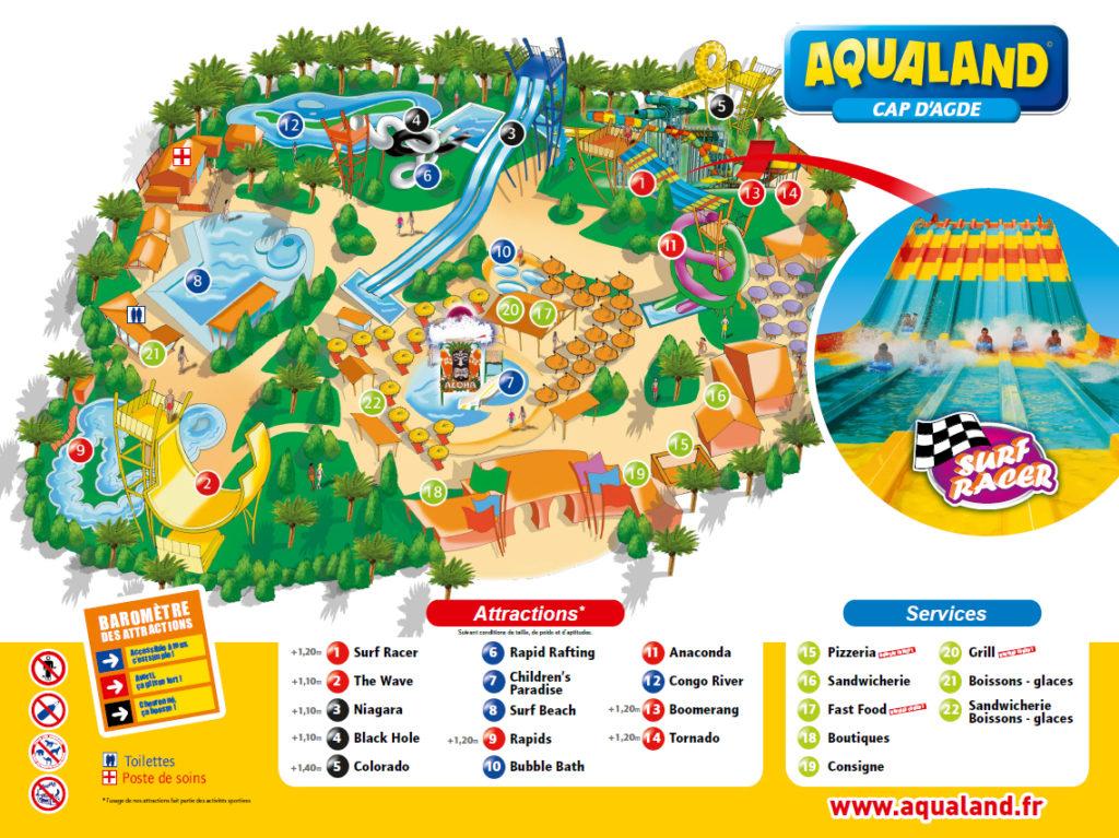 Plan Aqualand Cap d Agde