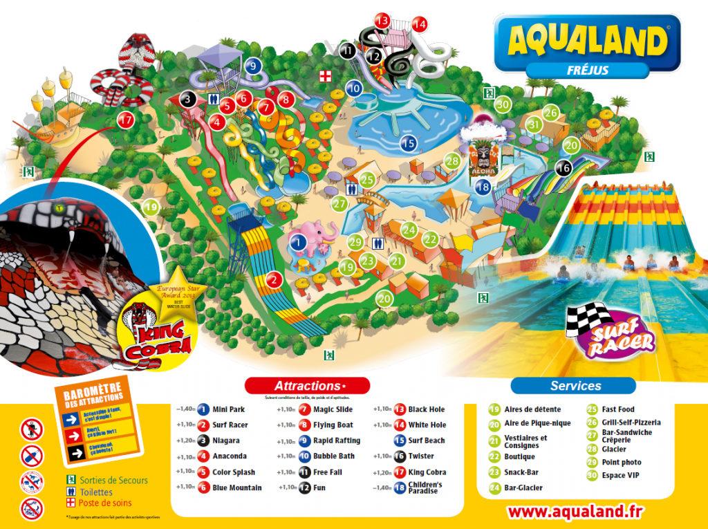 Plan Aqualand Fréjus