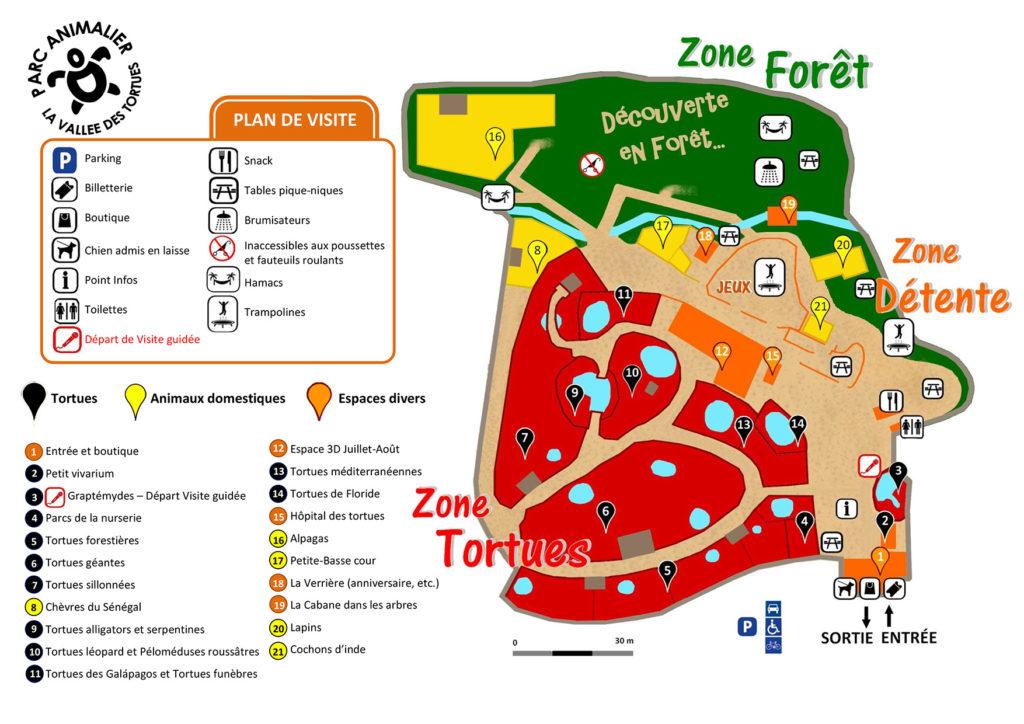 Plan La vallée des tortues