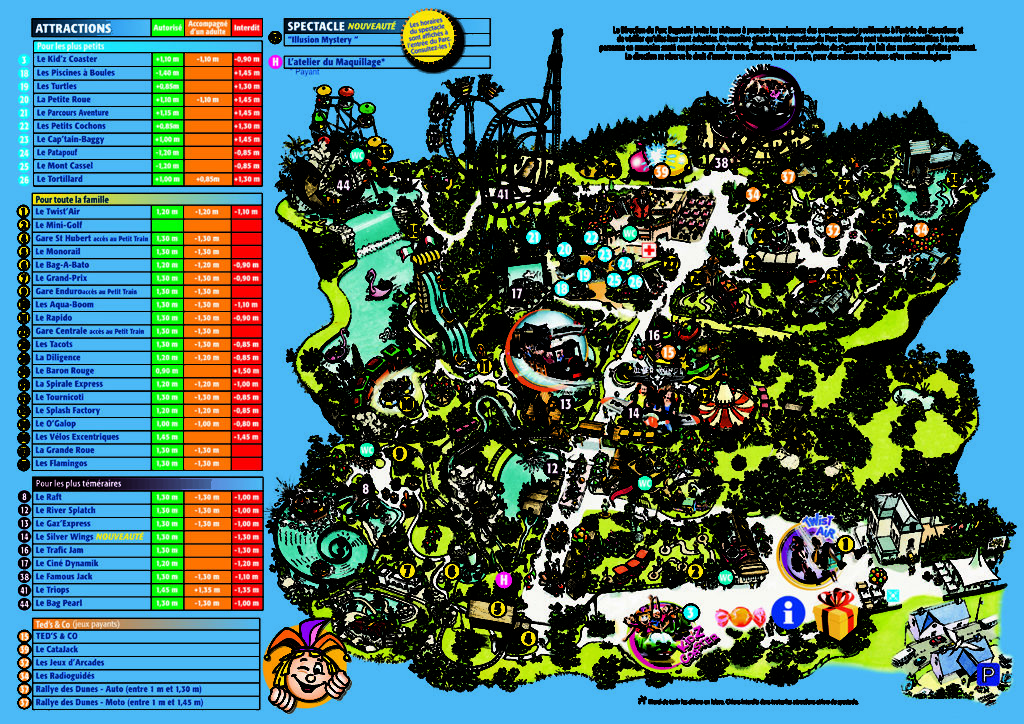 Plan Parc Bagatelle