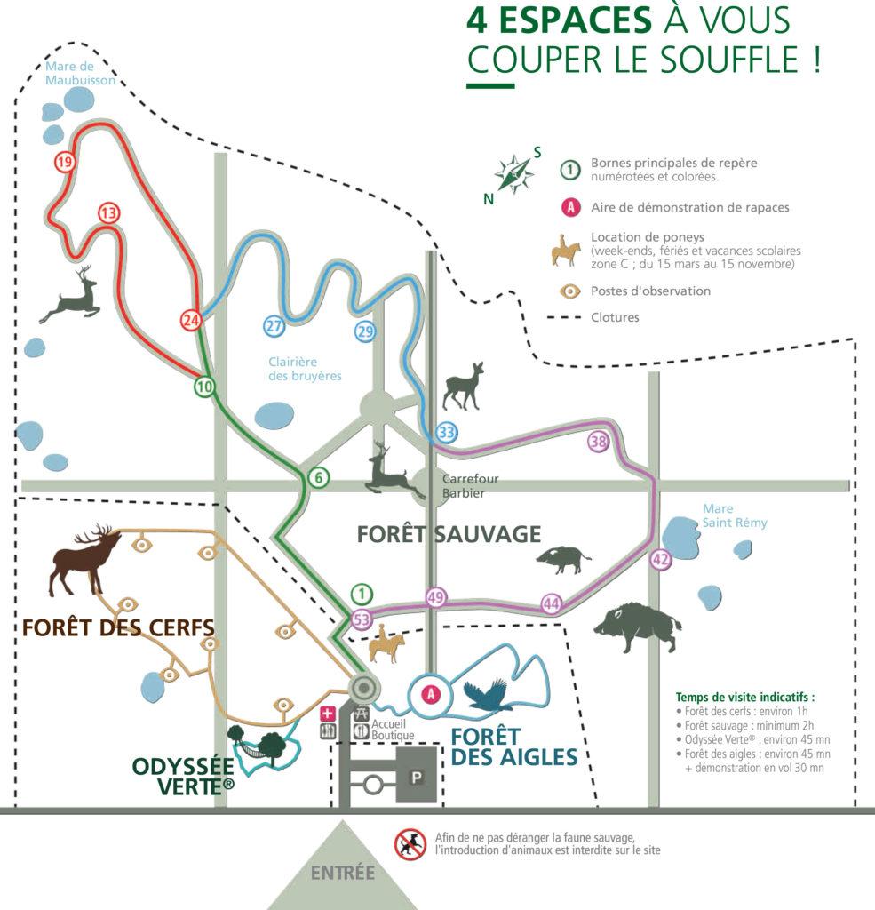 Plan Parc Espace Rambouillet