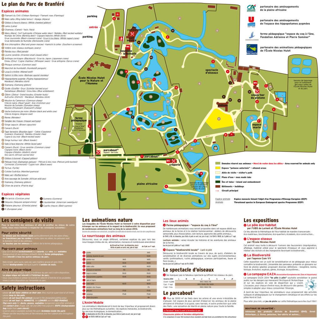 Plan Parc de branféré