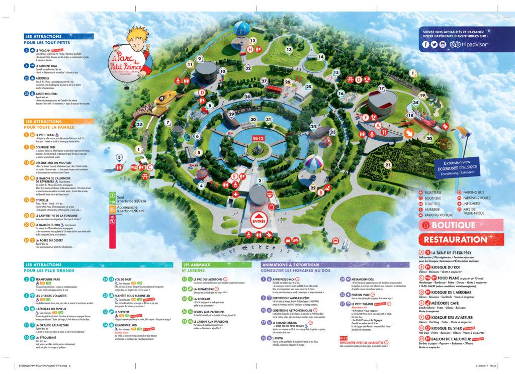 Plan du Parc du Petit Prince