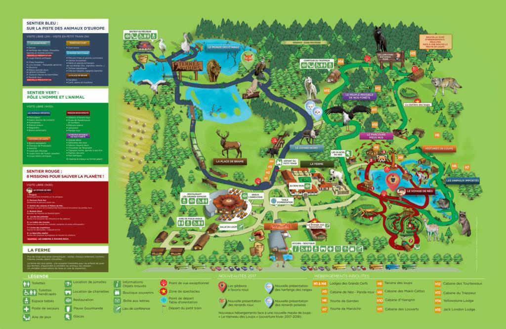 Plan Parc sainte croix