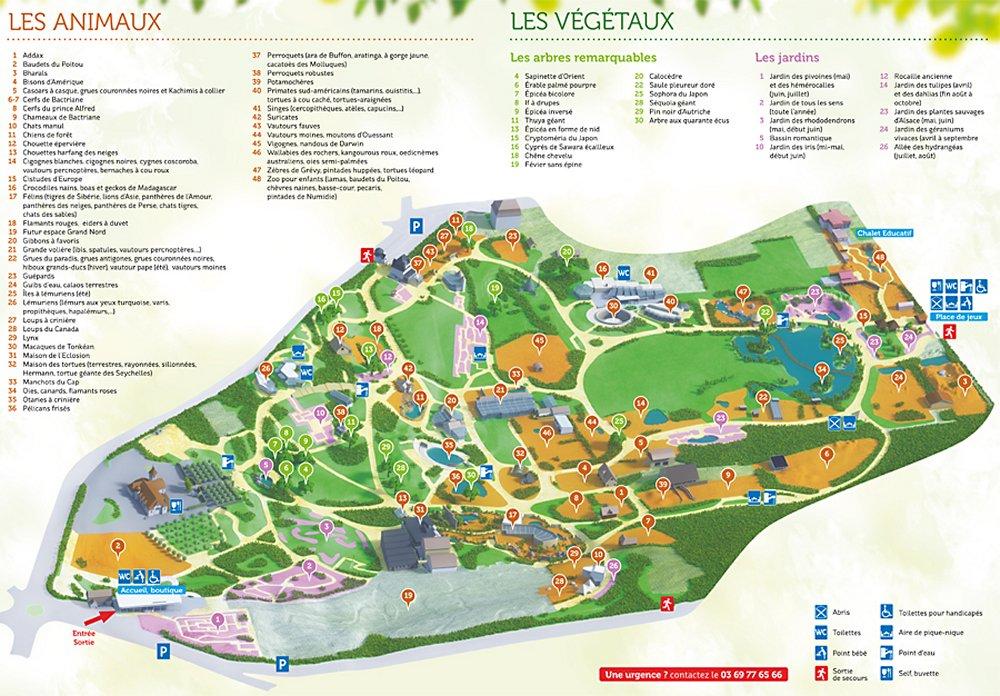 Plan Zoo de Mulhouse
