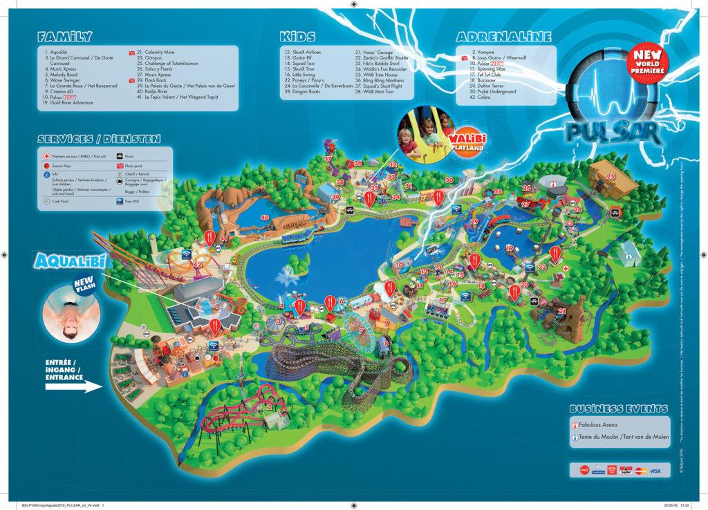 Plan du parc Walibi Belgique