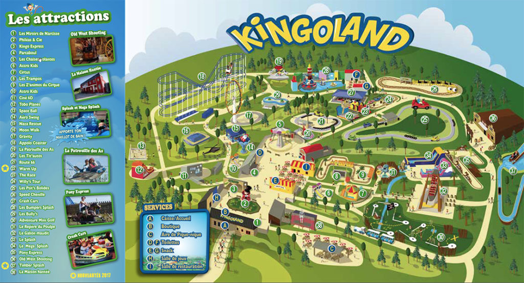 Plan parc Kingoland