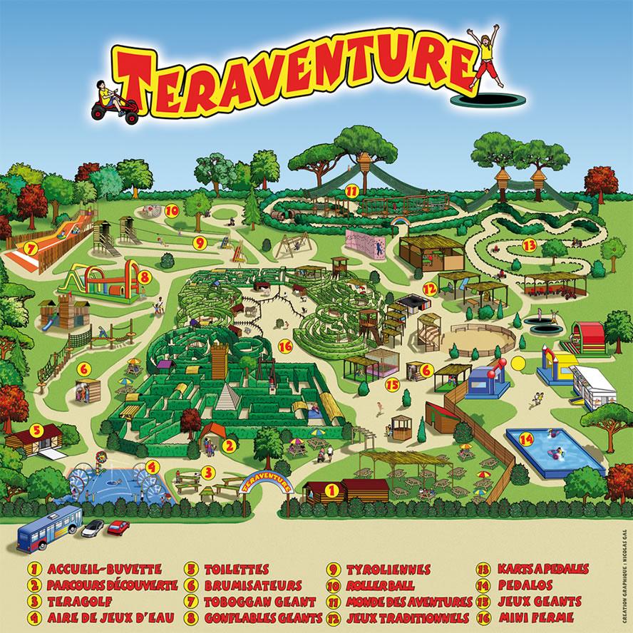 Plan parc Teraventure