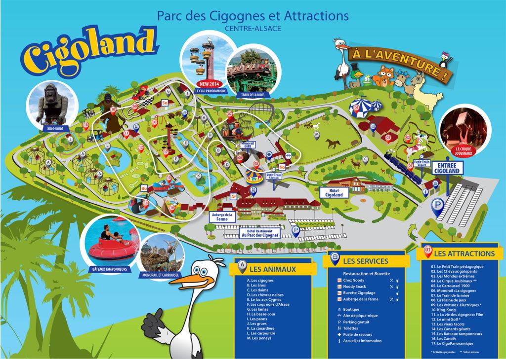 Plan parc des Cigognes