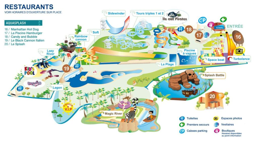 Plan Aquasplash Marineland