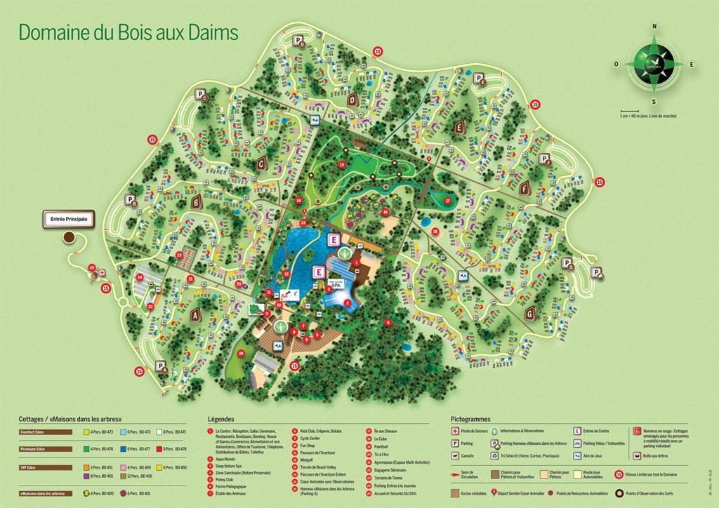 Plan Center Parcs Le Bois aux Daims