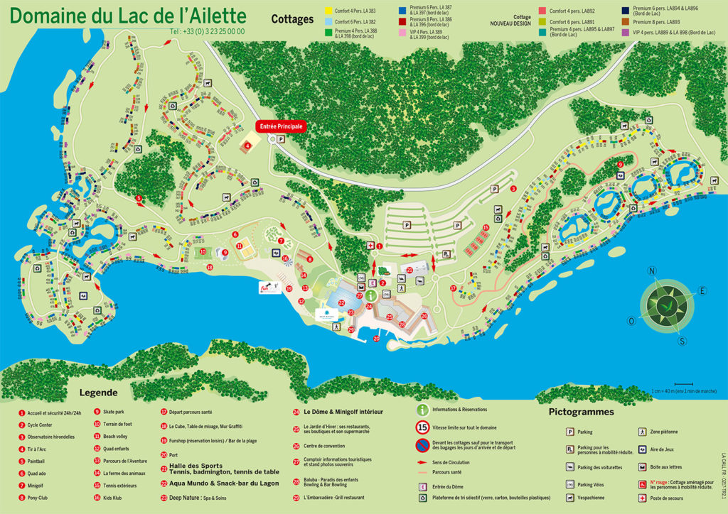 Plan Center Parcs Le Lac d'Ailette