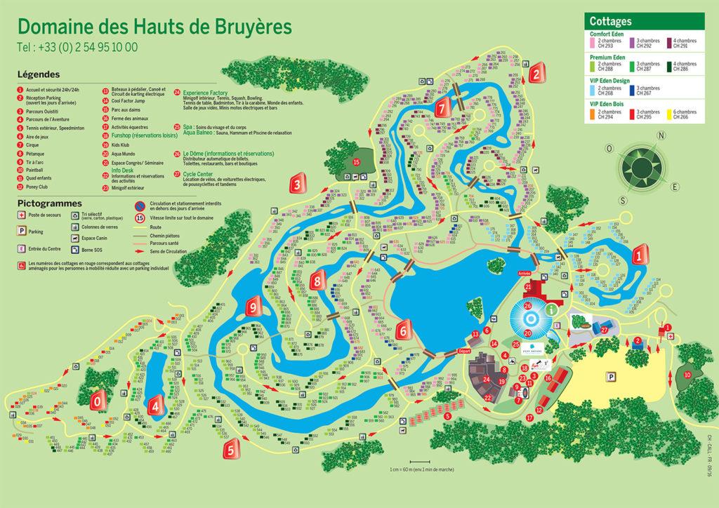 Plan Centers Parcs Les Hauts de Bruyères
