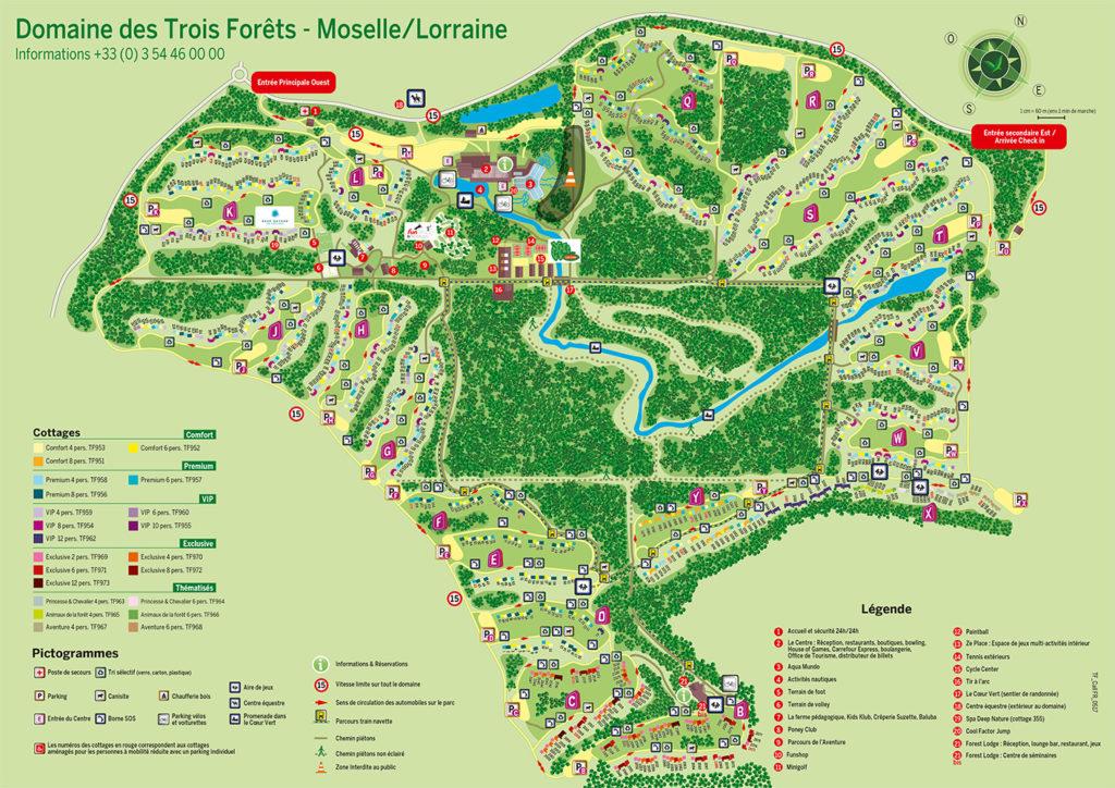 Plan Center Parcs Les Trois Forêts