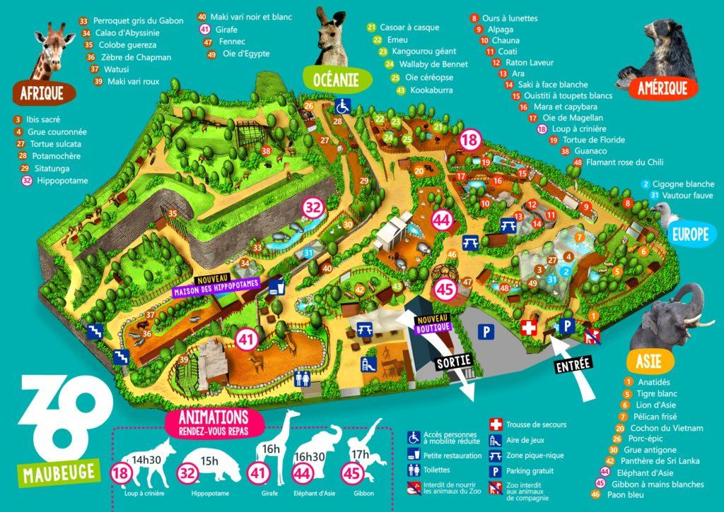 plan zoo de Maubeuge